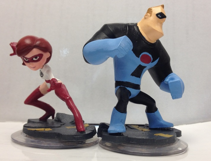 Custom Disney Infinity Elastigirl + Mr. Incredible by Derrico13