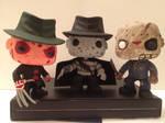 Custom Horror Pop! Freddy Krueger + Jason Voorhees