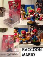 Custom Raccoon Mario amiibo by Derrico13