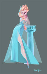 Queen Elsa by victoria-ying