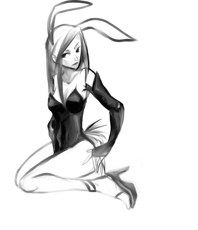 bunny girl by victoria-ying