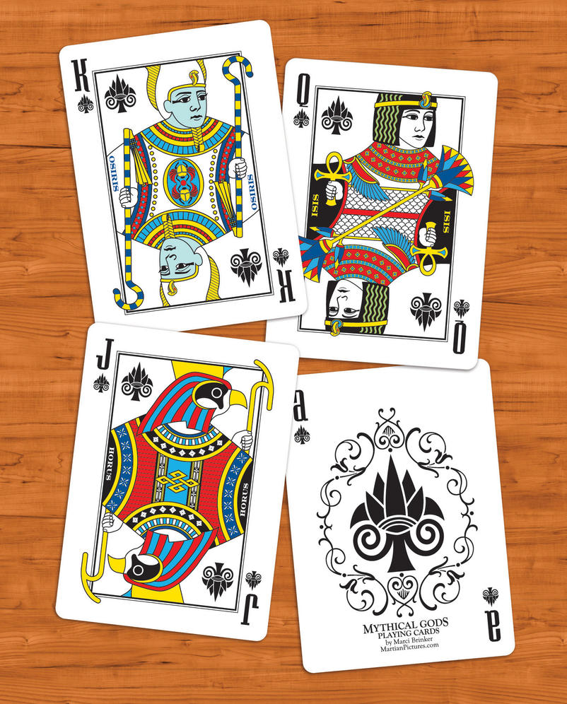 Mythical Gods Card Deck - Egyptian Gods by martianpictures