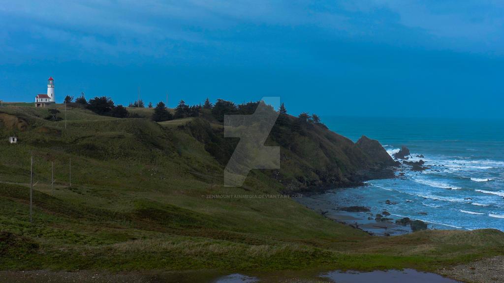Cape Blanco Lighthouse Landscape by zenmountainmedia