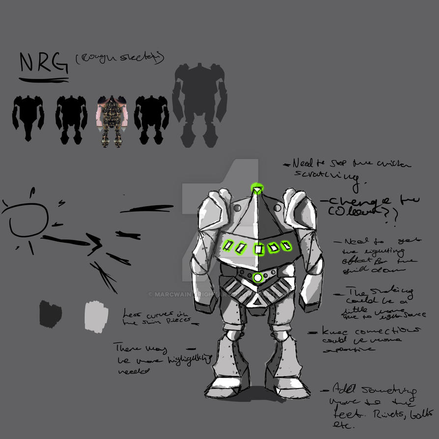 NRG Sketch and Study. Just an Update. by Courier2288