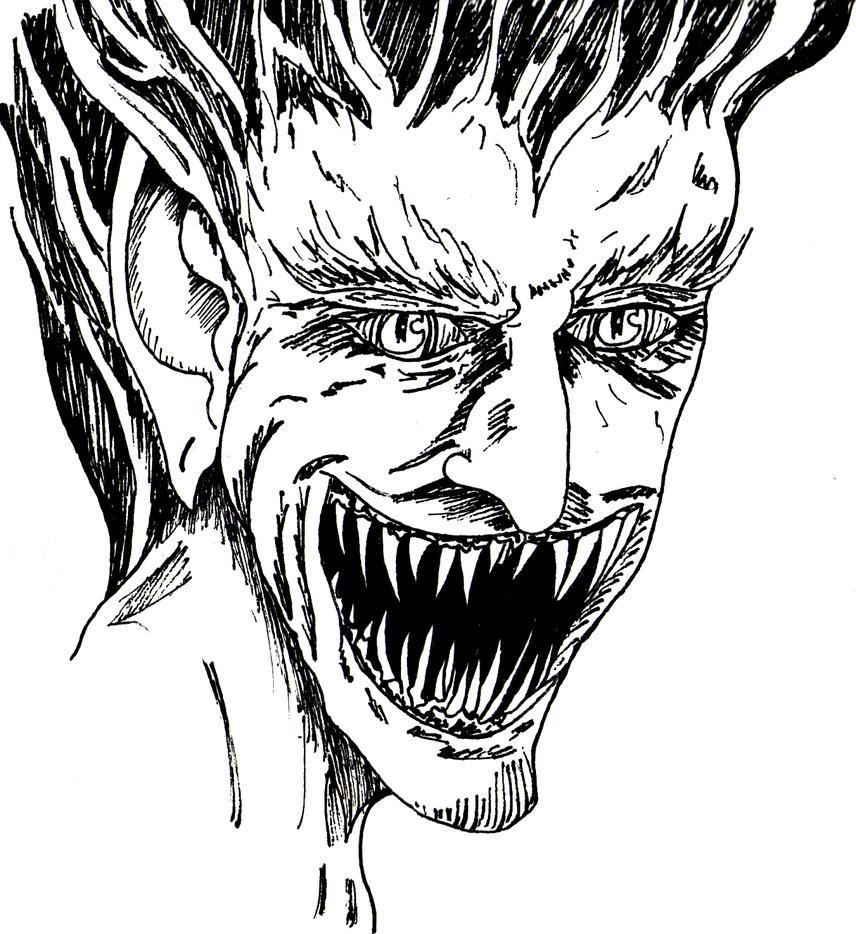 Fire Demon Face By Lazareus On DeviantArt
