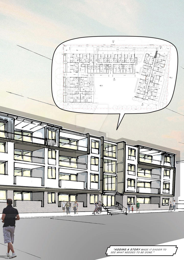 An apartment building with a story to tell by fictionarchitects on deviantart - Fahouse a story telling architecture ...