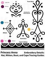 Princess Anna Tracing Stencils: Various Items by MomoKurumi
