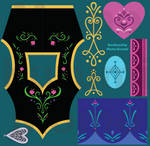 Frozen's Princess Anna Embroidery References