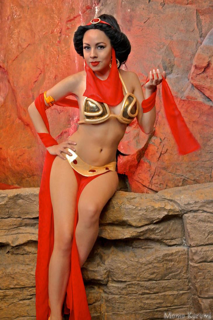 Princess Jasmine-Slave Leia Crossover by MomoKurumi