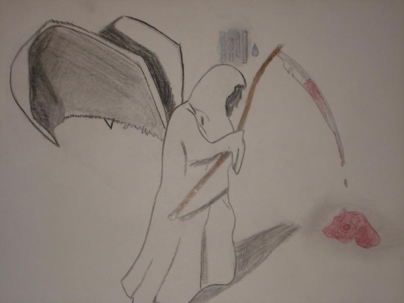 depressed angel drawings - photo #16