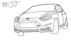 Digital Drawings - Ford Focus ST