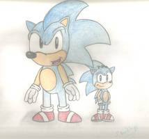 SatAM Sonic and Samuel by HedgeCatDragonix