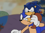 AOSTH Redraw - Sonic and Samuel by HedgeCatDragonix