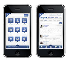 Facebook iPhone's application by hamzahamo