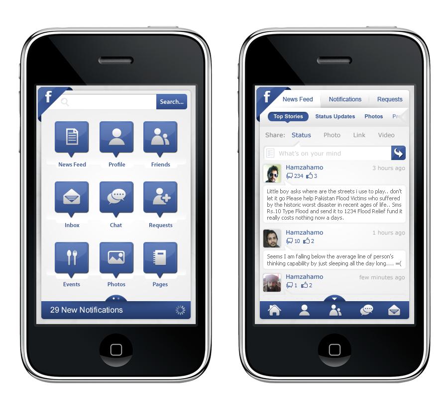 Скачать фейсбук приложенью для айфон