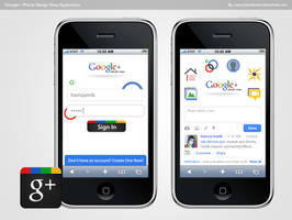Google Plus iPhone App Design by hamzahamo
