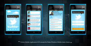 GUI Concept of Twitter Nokia Windows Mobile
