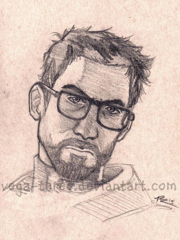 Freeman Sketch 2013 (WIP) by Vega-Three