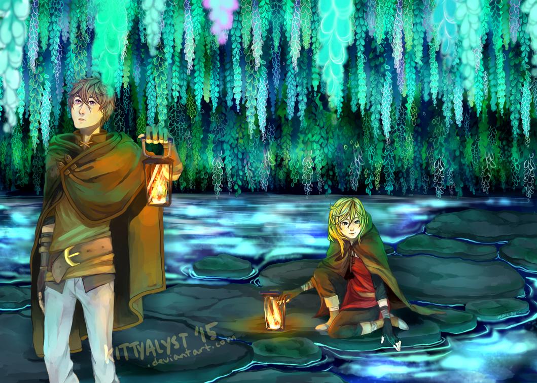 :o the water is glowy by kittyalyst