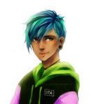 Blue hair yo