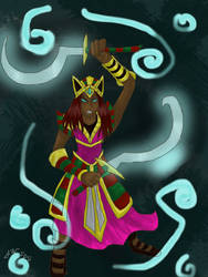 Player Gallery Entry: Amascut, Goddess of Slayers by Socoolgirl94