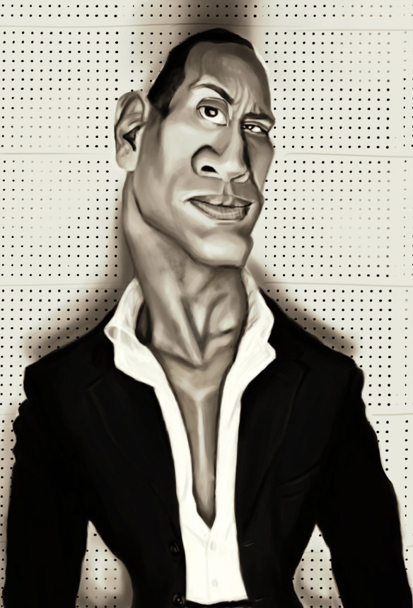Dwayne Johnson by DoodleArtStudios