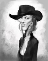 Uma Thurman WIP by DoodleArtStudios