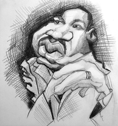 Martin Luther King Jr Sketch by DoodleArtStudios