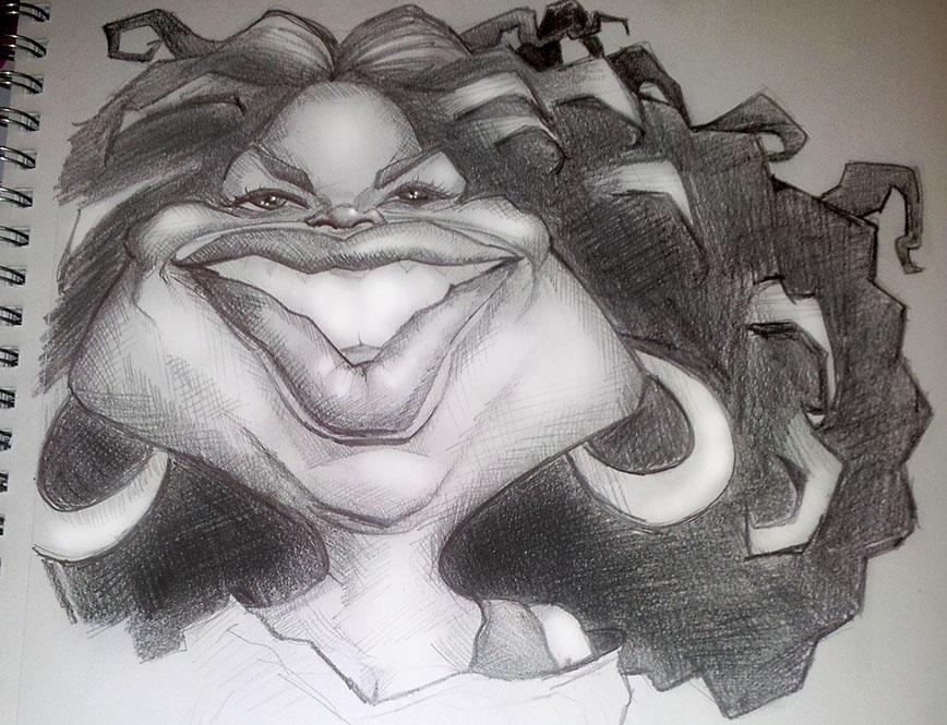 Oprah Sketch by DoodleArtStudios
