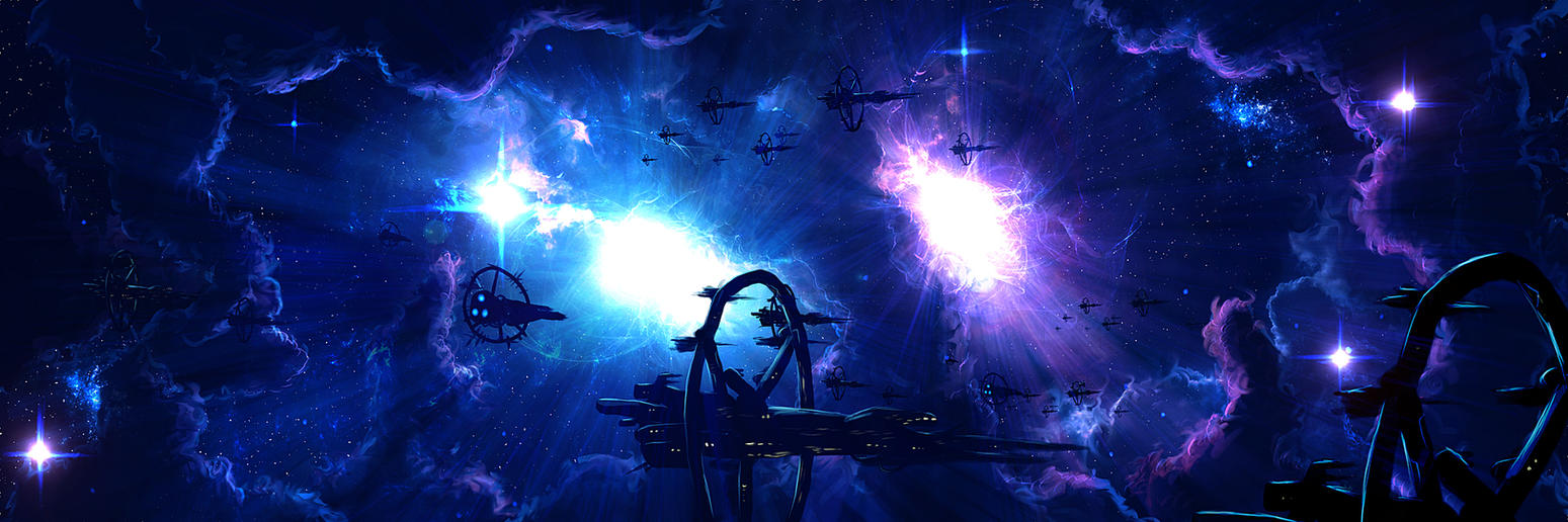 Blue Cluster Fleet by Kamikaye