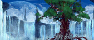 Waterfalltree by Kamikaye