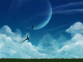 Sky Background by Kamikaye