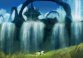 Kingdom of Waterfalls by Kamikaye