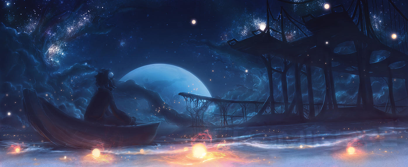 What Causes The Ocean's Tides?   Starbeach_moontide_by_kamikaye-d38uadf