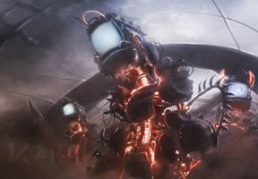 Robotic Postapocalyptic by Kamikaye