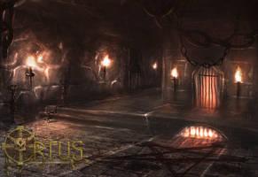 Ortus Dungeon Scene by Kamikaye