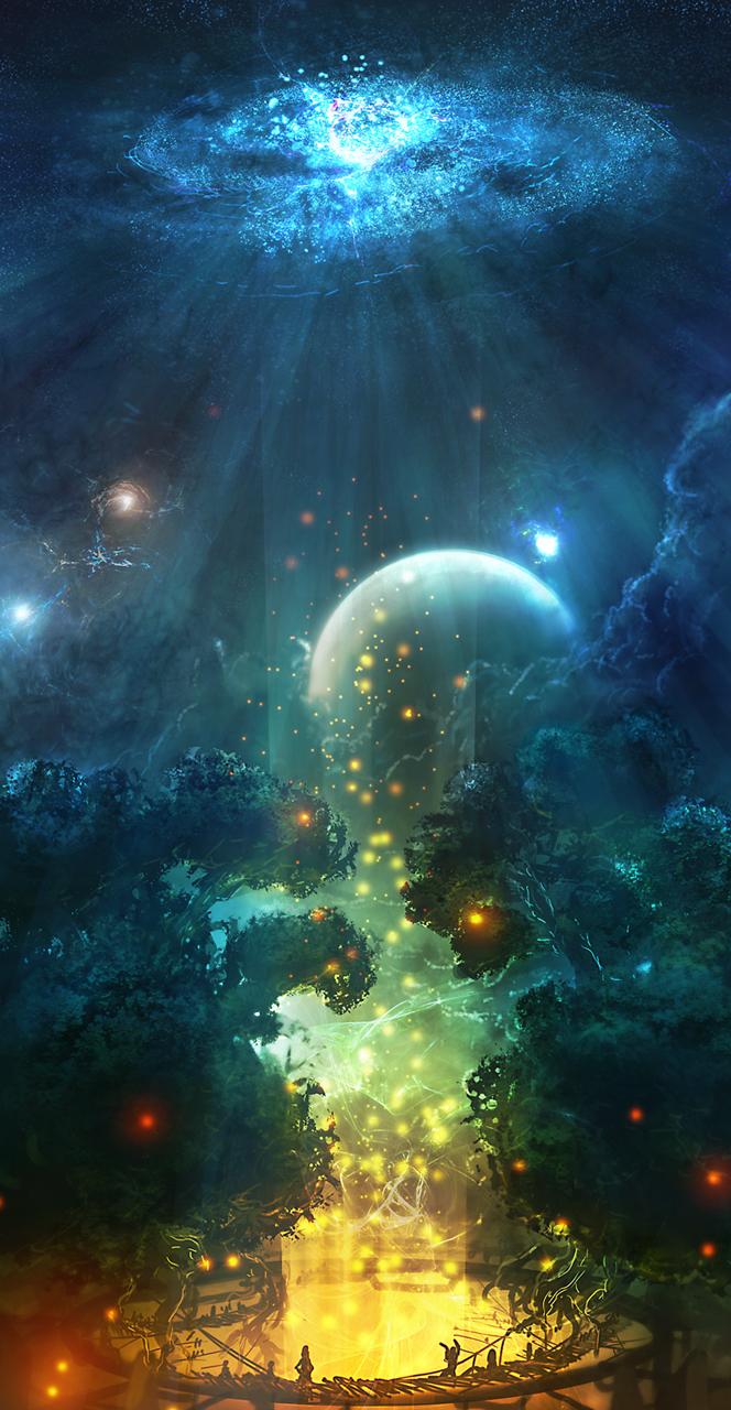 Random Spacescene by Kamikaye