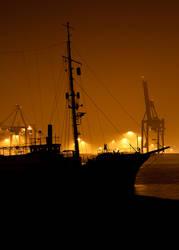 Hamburg harbor II by Kamikaye