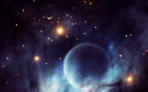Space scene by Kamikaye