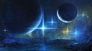 Blue Space III by Kamikaye