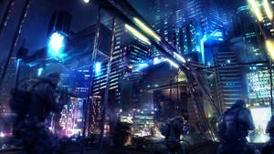 Shadowrun Assault scene - blue