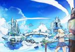 Blue Sky TwinCity by Kamikaye