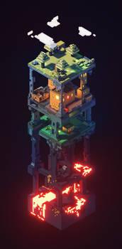 MC inspired vertical render
