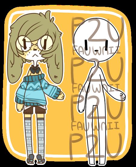 -P2U- [cutie base] + adopt raffle by Fauwnii