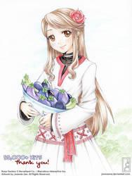 Felicity Loves Her Eggplants by junosama