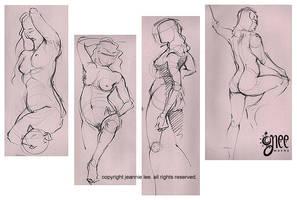 Gesture drawings -NUDITY- by junosama