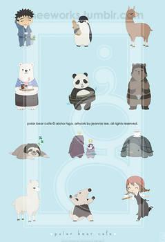 Polar Bear Cafe Print