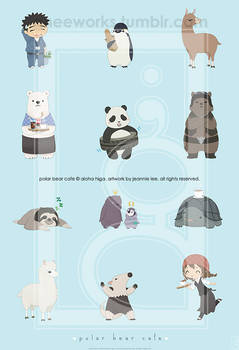 Polar Bear Cafe Print