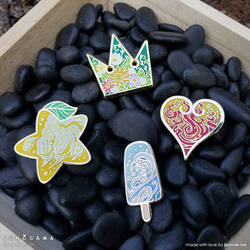 Paopu Fruit Air + Sea Salt Aqua Enamel Pins