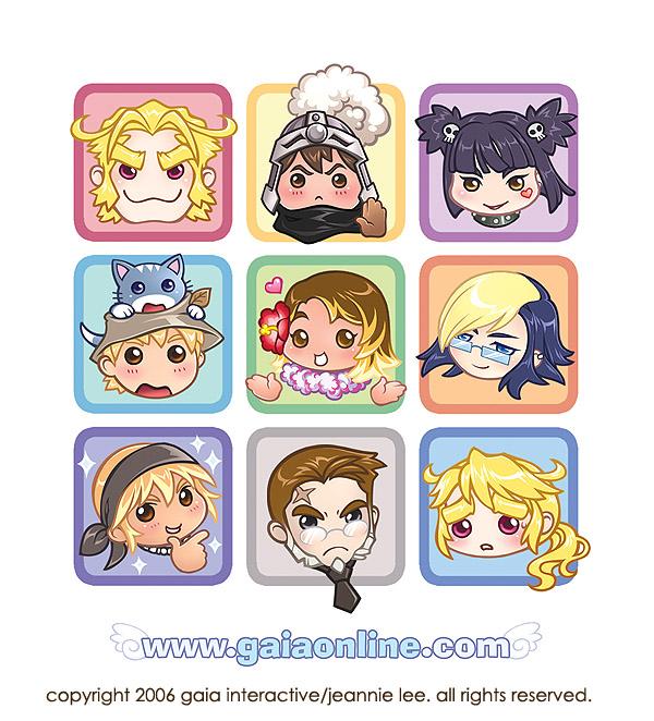 Gaia Online 2k6 Postcard